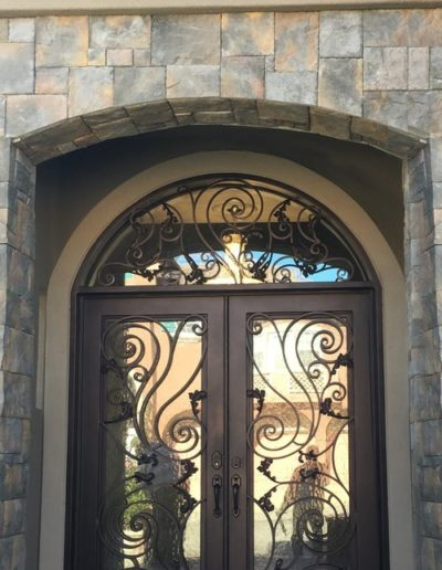 Custom Wrought Iron Double Doors Design Sample