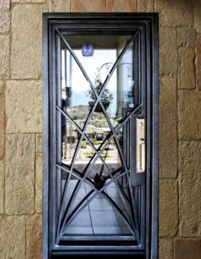 wrought iron single entry doors