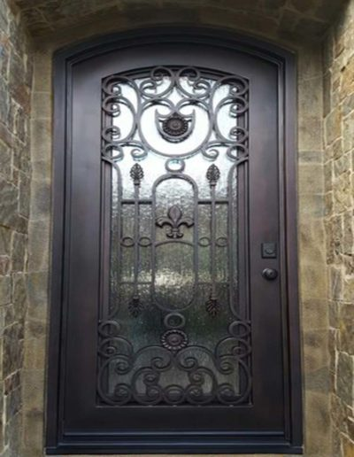 Custom Single Iron Doors by Baltic Iron Doors