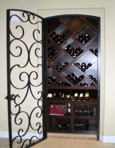 Wine Cellar Single Iron Door