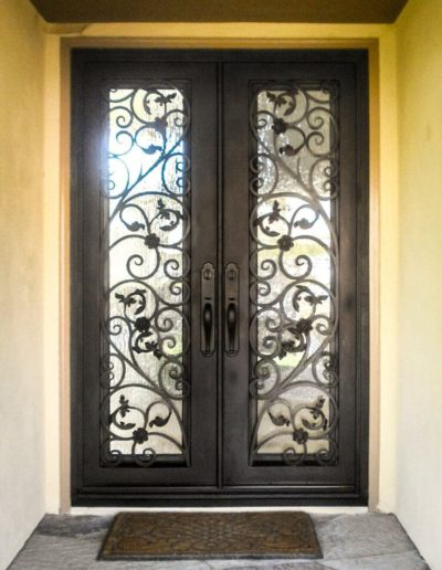 Custom Double Wrought Iron Doors Picture