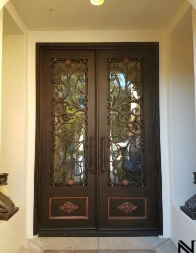 Baltic Custom Double Wrought Iron Doors