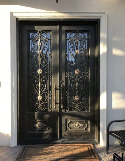 Custom Double Wrought Iron Doors