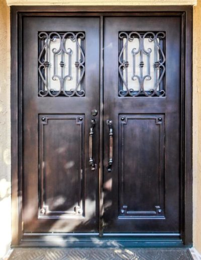 Custom Double Wrought Iron Doors 4