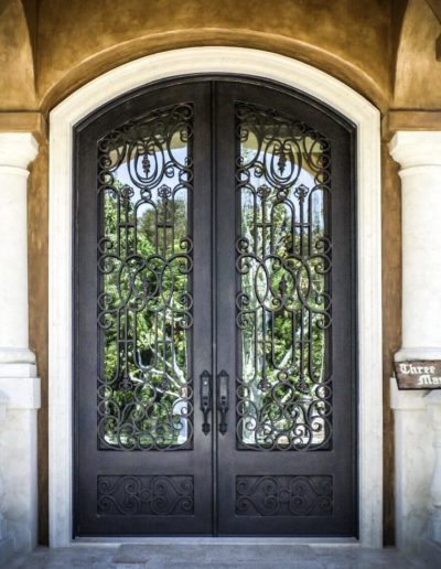 Custom Double Wrought Iron Doors by Baltic