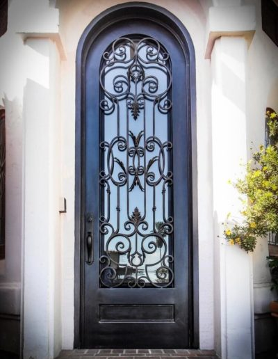 Arched Iron Door Designed by Baltic