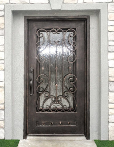 Wide Iron Door Custom Design