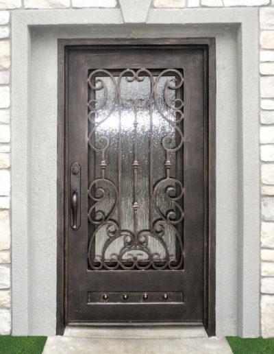 Wide Iron Door Custom Design