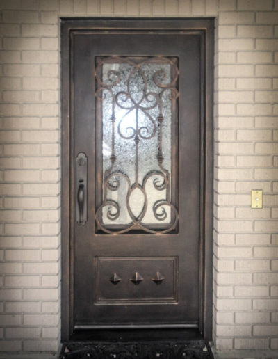 Authentic Custom Iron Door Design