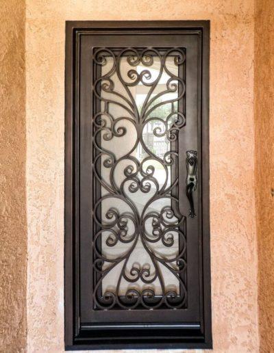 Single Iron Door Design