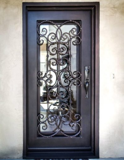 Black Iron Door Design