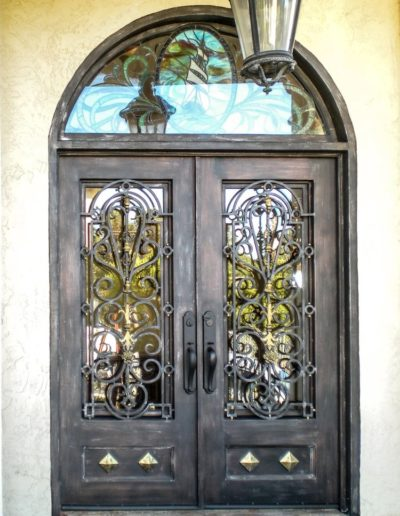 Custom Iron Double Doors Design