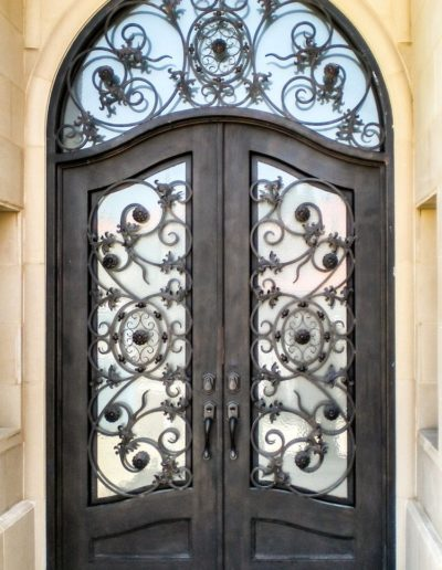 Baltic Custom Wrought Iron Double Doors