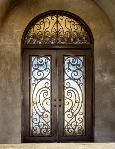 Sample Custom Double Wrought Iron Doors