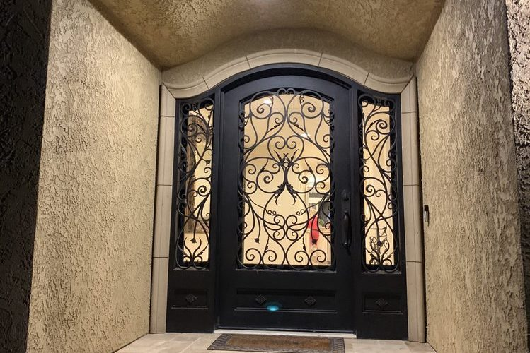 Beautiful Custom Double Wrought Iron Doors