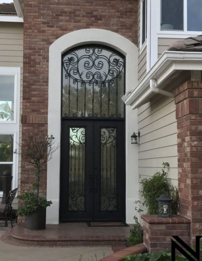 Great Custom Double Wrought Iron Doors