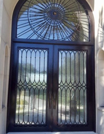 Amazing Custom Double Wrought Iron Doors