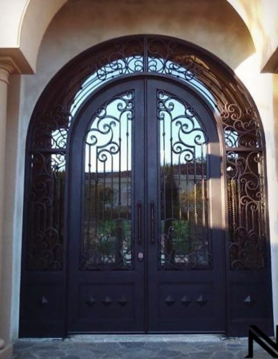 Custom Double Wrought Iron Doors Sample Picture