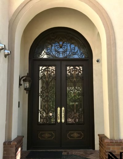 Custom Double Wrought Iron Doors Sample Image