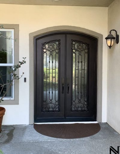 Wrought Iron Custom Double Doors by Baltic