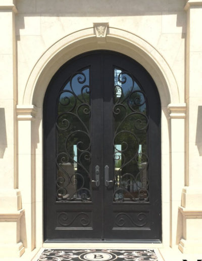Baltic Wrought Iron Double Doors