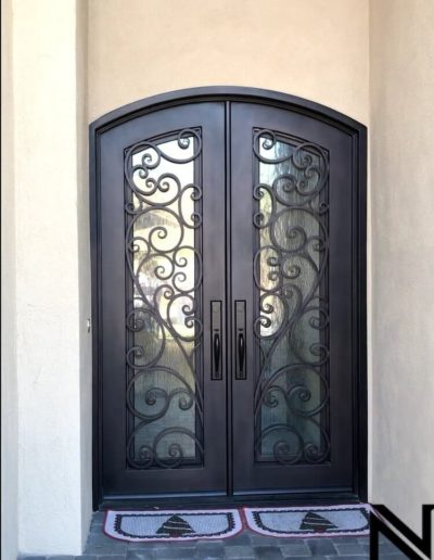 Baltic Wrought Iron Custom Double Doors