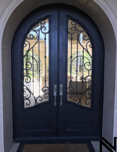 Wrought Iron Custom Double Doors