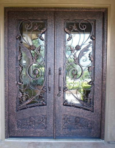 Double Wrought Iron Custom Doors by Baltic