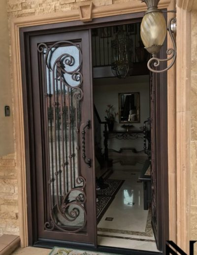 Custom Double Wrought Iron Doors by Baltic 1