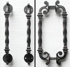 Wrought Iron Door Handle and Lock to Fit Single Iron Doors