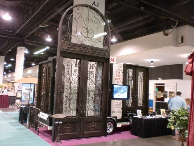 manufacturer of custom wrought iron doors