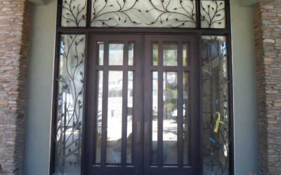 HOW TO MAKE A STATEMENT WITH WROUGHT IRON ENTRY DOORS