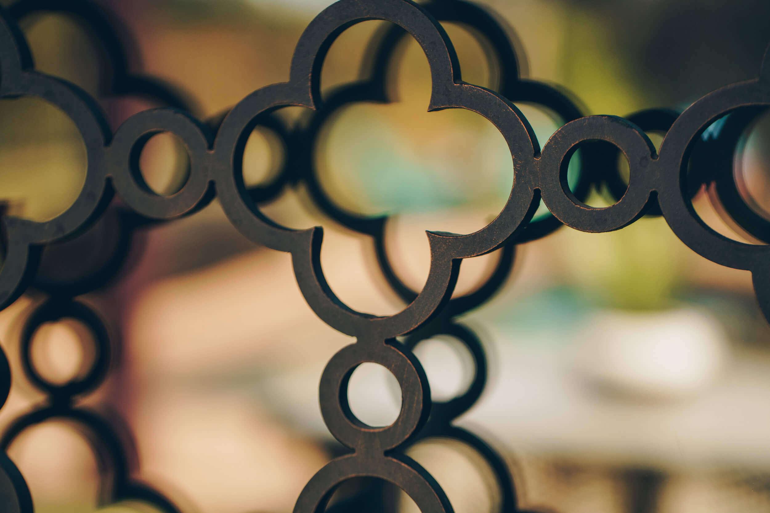 Black Iron Art Door Design